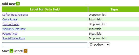 Custom Data Field Input Format - Bella Solutions Field Service Software